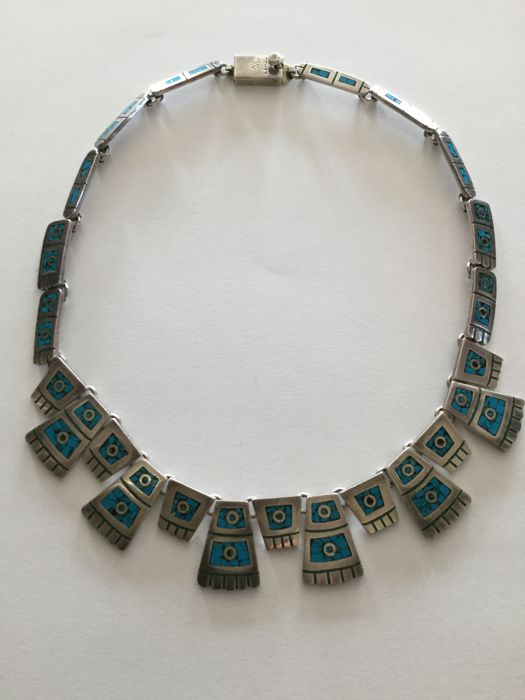 Mexican necklace made of silver - Bought in 1980 in Mexico
