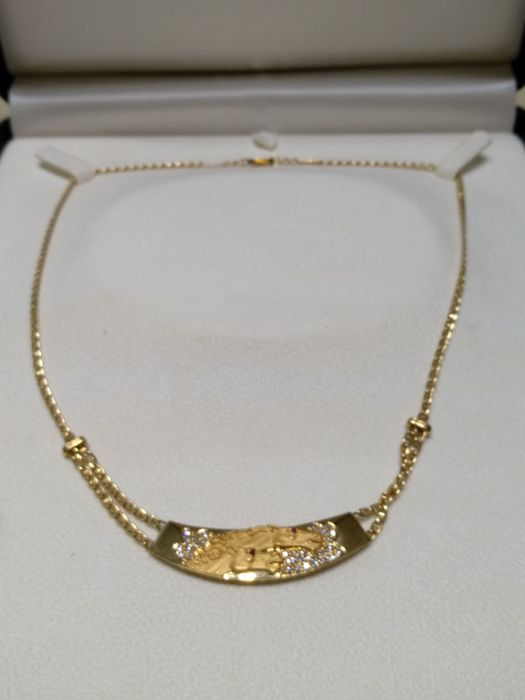 Carrera y Carrera - Necklace with 18 kt gold adornment and brilliant-cut diamonds - limited Carrera Carrera piece