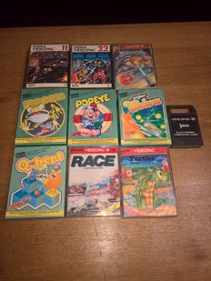 10x Philips videopac games , like Popeye ,Terrahawk ,Frogger, Cobra etc