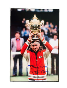 Bjorn Borg - Authentic & Original Signed Autograph in Framed Photo ( 20x30cm ) - with Certificate of Authenticity