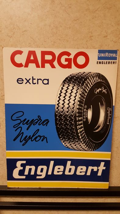 Plate for the Garage Englebert uniroyale - Cargo extra - garage- 60s