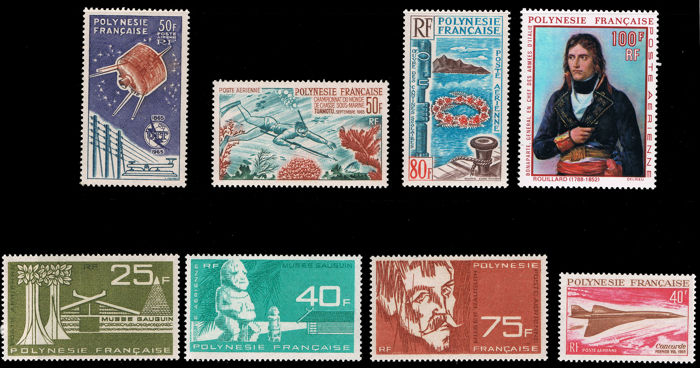 French Polynesia 1965/1969 - Lot of 6 series - Yvert A 10, A 11/3, A 14, A 15, A 27, A 31