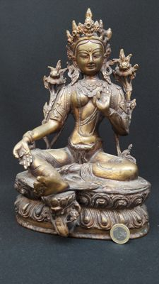 Bronze Tara - Nepal - second half of the 20th century (30cm)