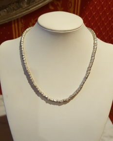 'DODO' necklace made entirely of 925/1000 silver nuggets - Necklace length: 37.5 cm