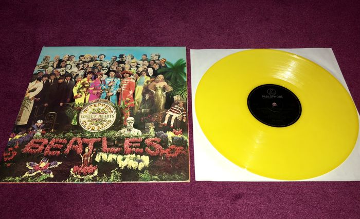 The Beatles – Sgt. Pepper's Lonely Hearts Club Band [Parlophone, Holland, 1979, Yellow Vinyl]