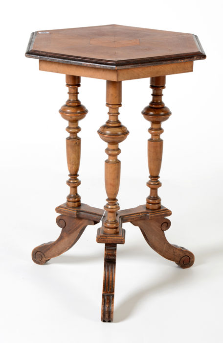 Sixsided William III Side Table With Intarsia The Netherlands - Six sided table