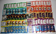 Panini - World Cup 02/06/10 + 04/08/12/16 + 80 + Euro 04 + 08 + 12 + 16 - 80 unopened packets