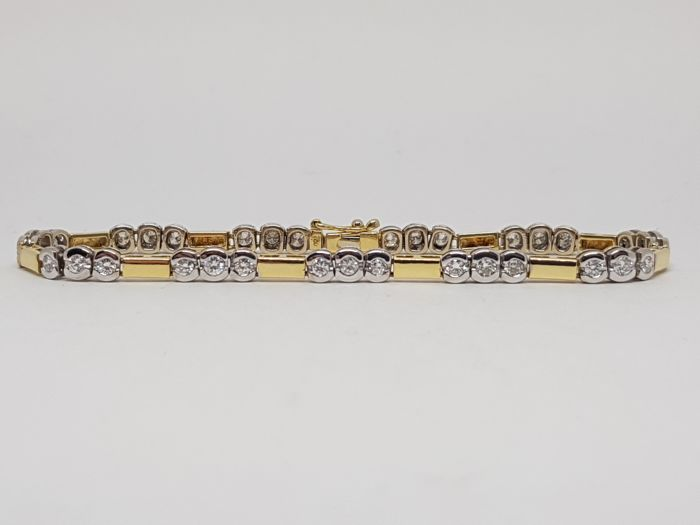 Diamond Tennis Bracelet 3,00ct. - Length: 20,5cm.