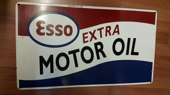 Esso Extra Motor Oil metal sign - 1990s