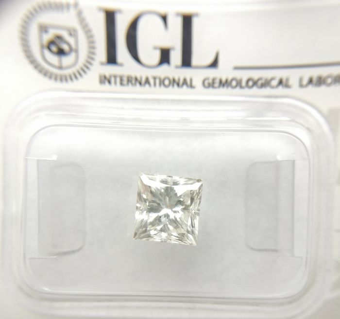 1.70 ct Princess cut diamond G VS1 *** Low Reserve ***