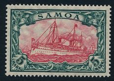 German Colonies – Samoa – 1915 – Imperial Yacht 5 Marks with watermark, Michel 23IIA