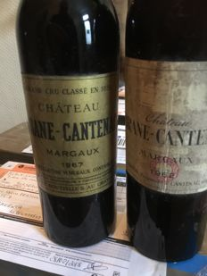 1962 & 1967 Chateau Brane Cantenac, 2nd classified grand cru of Margaux - 2 bottles