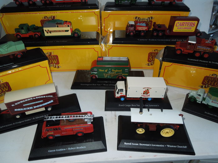 Atlas - Scale 1/76 - Lot with 12 models: Ford, Diamond, Scammell, Bedford, AEC & Harrington