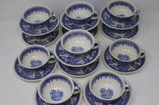 "Villeroy & Boch - 12 Cups and saucers - Model ""Burgenland"""