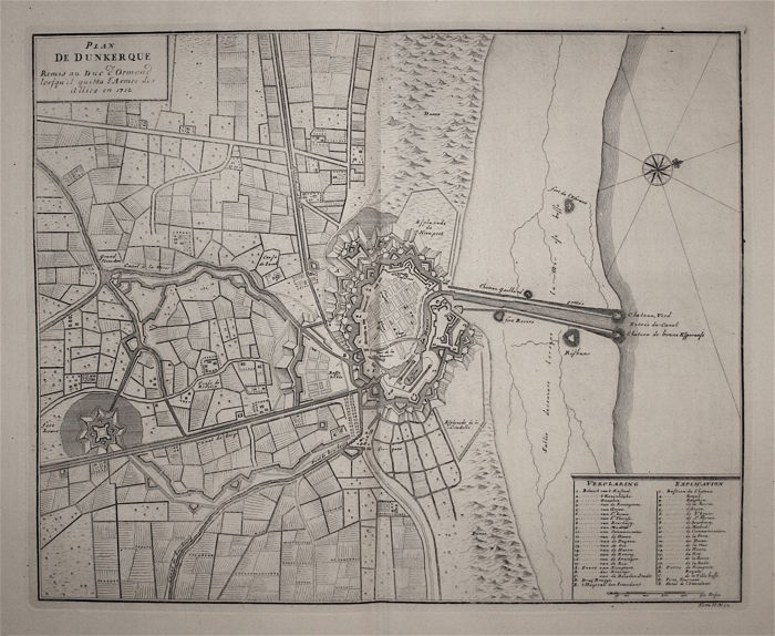 france plan of dunkirk j dumont plan de dunkerque 1712 catawiki. Black Bedroom Furniture Sets. Home Design Ideas