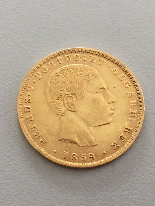 Portugal Monarchy – D. Pedro V ( 1853-1861 ) – 2.000 Reis – 1859 – Gold