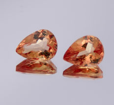 Imperial Topaz pair - 2.80 ct in total