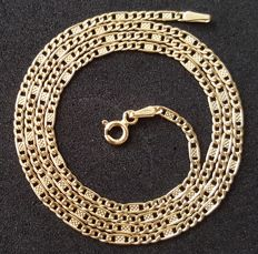 "18 kt yellow gold necklace - Chain ""Valentino"" - Length: 50 cm"