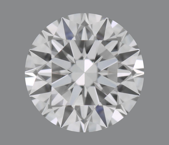 Round diamond colour D, pure, loupe-clean, HRD certified, 0.52 ct