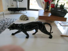 Large ceramic by H. Beattie - Black Panther - 50cm
