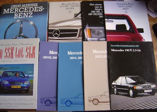 Mercedes benz 7 brochures nl text and 2 books catawiki for Mercedes benz text