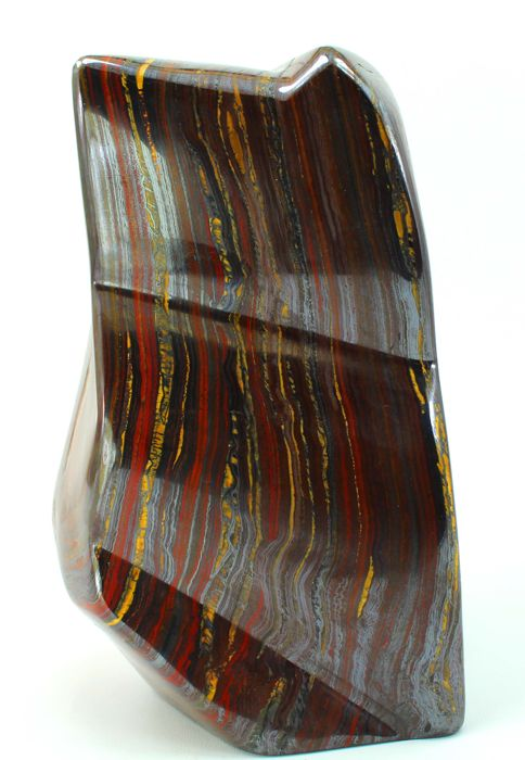 Striking Large Top Quality Multi Colored Tiger's Eye / Iron Stone hand-polished Tumble - 195 x 111 x 97mm - 4264 gm