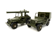 Dinky Toys Français  - Scale 1/43 - # 829 Jeep Willys and # 823 Field kitchen