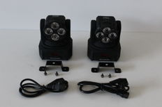 Set LED RGBW wash moving heads