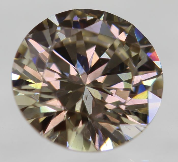 Natural Diamond 0.64 Carat Light Brown Color VVS2 Clarity – DG2657 - NO RESERVE PRICE