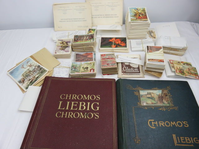 More than 1500 chromo prints and two partially filled collection albums, Liebig (+-500), Artis, Côte d'or and others