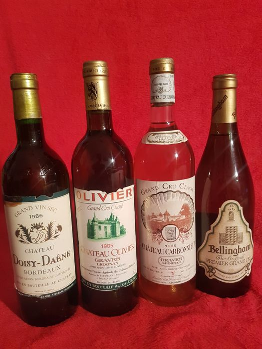 1 x 1985 Chateau Oliver, Graves & 1 x 1986 Chateau Doysy-Daene, Bordeaux & 1 x 1985 Chateau Carbonnieux, Graves & 1 x Bellingham, South Africa - 4 bottles