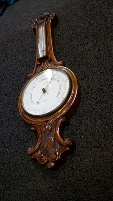 Egg cooker wheel barometer - Middleton Sunderland - circa 1900