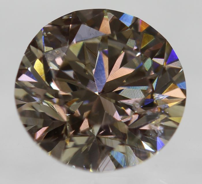 Natural Diamond, 0.81 Carat, Intense Fancy Brown Colour, VS2 Clarity - DG2640 - NO RESERVE PRICE