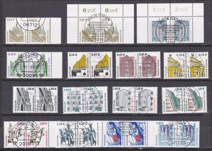 Federal Republic of Germany 1970 castles and palaces; 1980 / 2002 SWK as ww. Pairs; stamp booklets; miniature sheet all with full cancellation and Berlin SWK with ATM