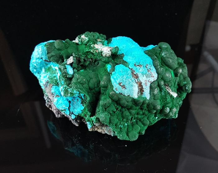 Large Chrysocolla and Malachite, Natural Unprocessed - 13.5 x 8.5 x 6.5 cm - 688 g