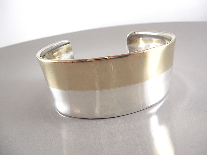 925 silver Ladies hard bracelet - 7 cm diameter