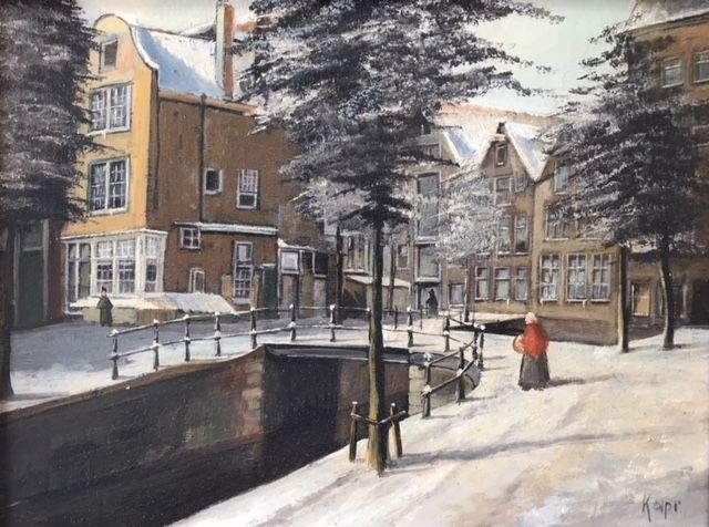 Lois Kapr ( 1922) - Amsterdamse gracht in de winter