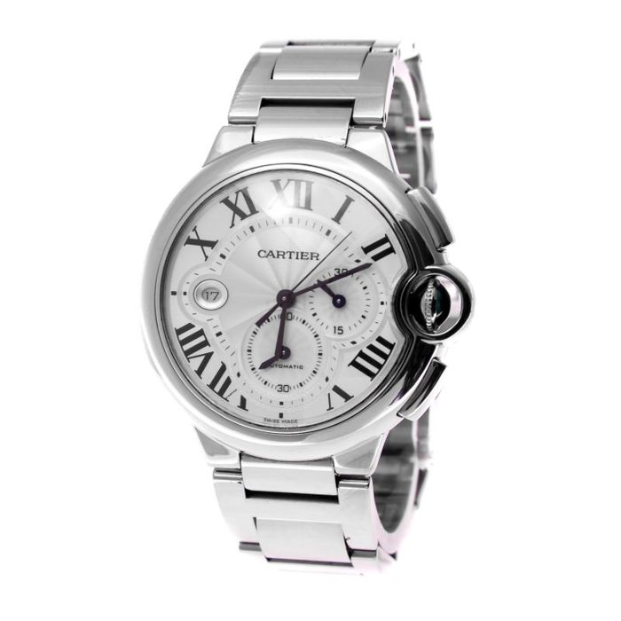 Cartier - Baloon Bleu 42 mm chronograph white gold - 3195 - Heren - 2011-heden
