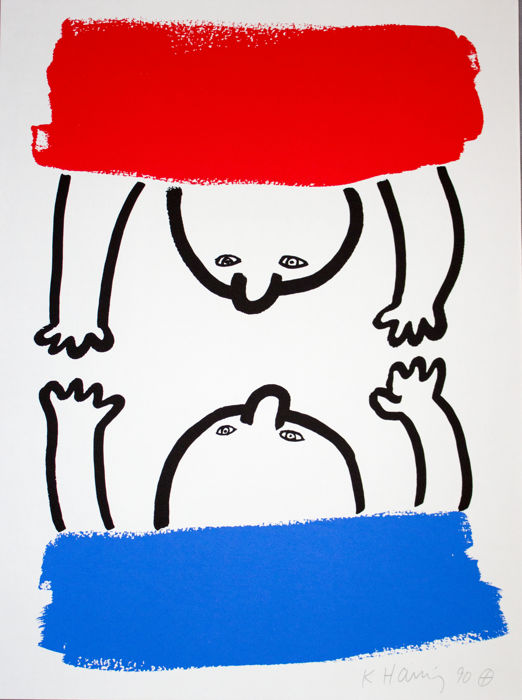 Keith Haring - The Story of red and blue