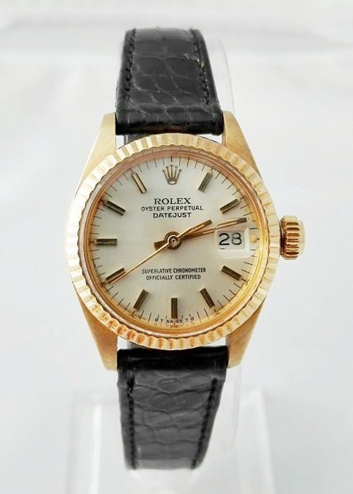 rolex oyster perpetual datejust lady gold damen 1970 1979 catawiki. Black Bedroom Furniture Sets. Home Design Ideas