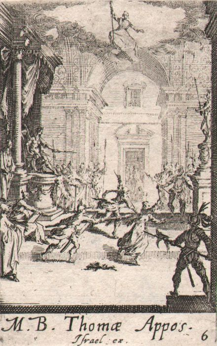 Jacques Callot ( 1592-1632 ) - The apostle Thomas.