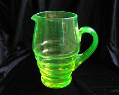 Anna green water jug / Jug with uranium dioxide