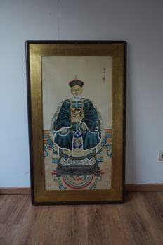 Painting of emperor, Qing dynasty China, modern - China - late 20th century