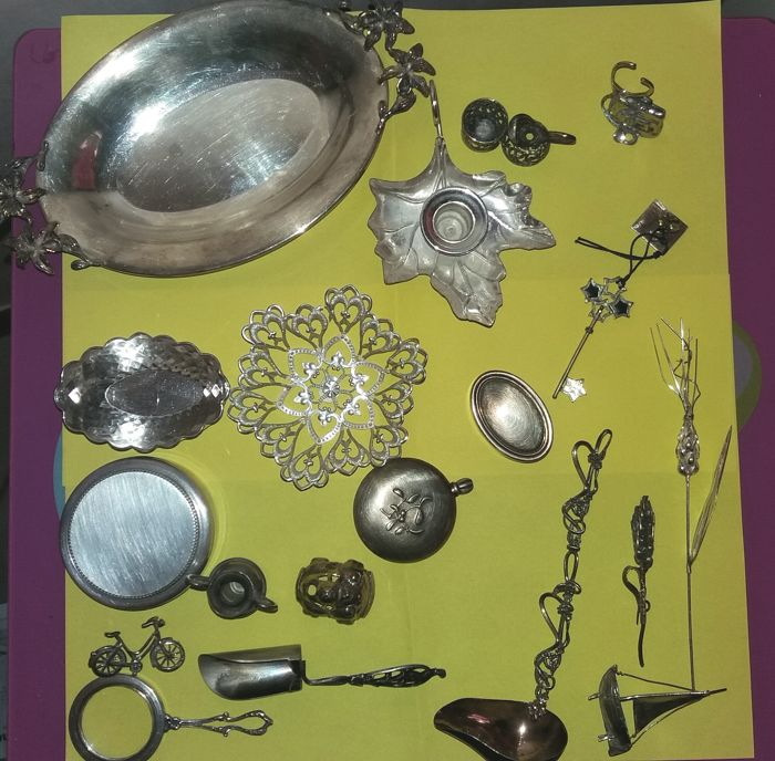 Lot of 20 Silver Items Italy, 20th century