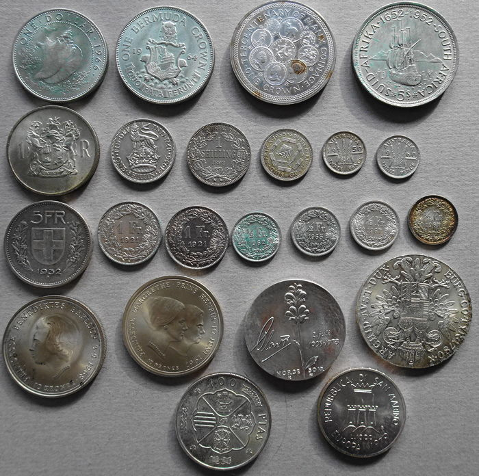 World - Lot of 23 silver coins - silver