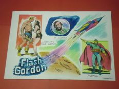 "Canale, Antonio - unpublished original illustration ""Omaggio a Flash Gordon"""