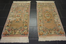 Pair of Aubusson China bridges 62 x 128 cm
