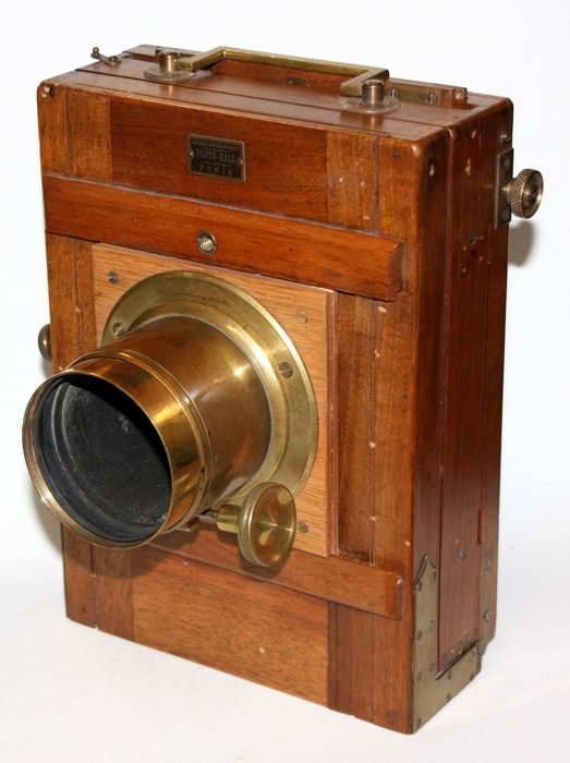 WOODEN VIEW CAMERA PHOTO HALL 13 X 18 - 1900