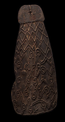Very Old, Archaic Asmat Shield from the Northwestern Asmat Region