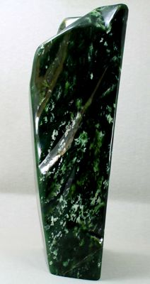 Premium Quality Large Size Lush Green Nephrite Jade Polished Tumble - 300 x 143 x 107mm - 6.63 kg